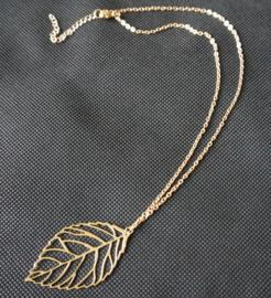 Ketting blad - goudkleur