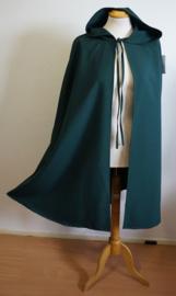 Donker groene cape