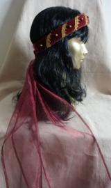 Bordeaukleurige hoofdband