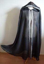 Transparante zwarte cape