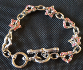 Armband - roze glimsteentjes