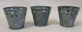 Set van 3 waxinehoudertjes