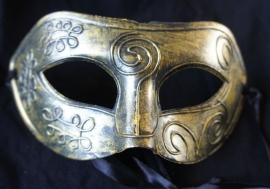 Goudkleurig masker
