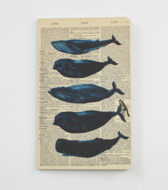 Whales Dictionary Art Notebook