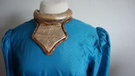 Blouse  3 - Blauwe reliefstof