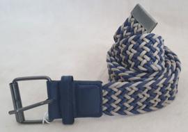Blauw / grijs gevlochten riem
