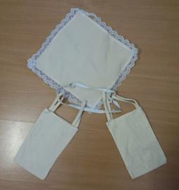 Set onderkleding met rok - 6 delig