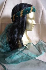 Donkergroene hoofdband