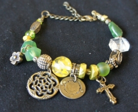 Armband Groen / Brons