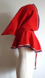 Rode  schoudercape