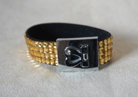Armband met glimsteentjes