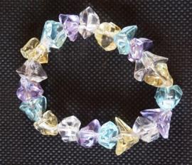 Armband - transparante kralen