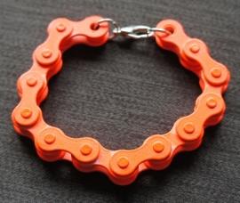Armband fietsketting - Oranje