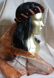 Donkerbruine hoofdband