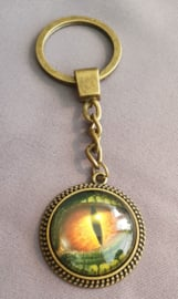 Sleutelhanger Drakenoog - bronskleur