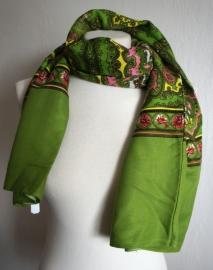 Groene sjaal met print
