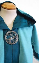 Aqua fleece cape