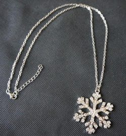 Ketting sneeuwvlok - zilverkleur