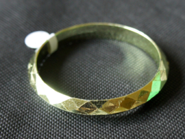 Armband plastic goud