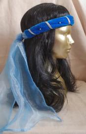 Blauwe hoofdband