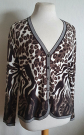 Vest met dierenprint - Mt. 42