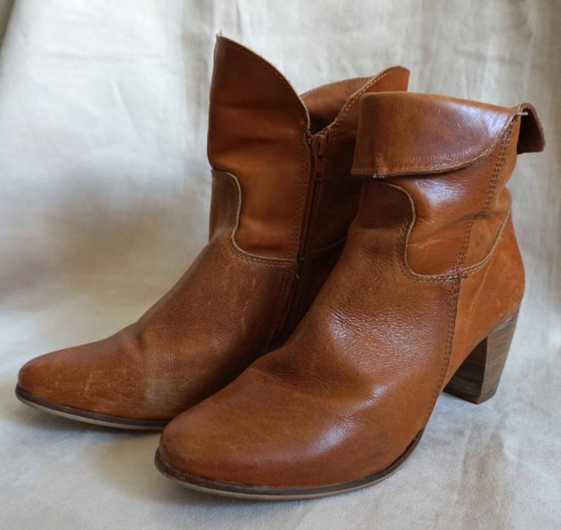 Cognac bruin laarsje Mt. 41 | Schoenen Laarzen Vintage