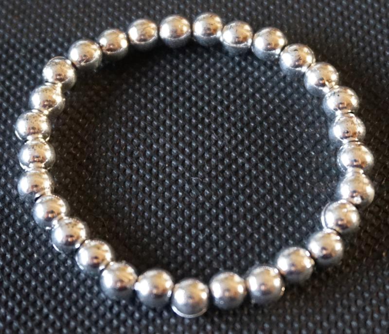 Armband - zilveren kralen