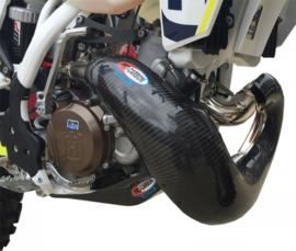 Pro Carbon uitlaat bocht bescherming voor FMF gnarly uitlaatbocht voor KTM SX 250 2017-2018 & EXC 250/300 2017-2018 & Husqvarna TC 250 2017-2018 & TE 250/300 2017-2018