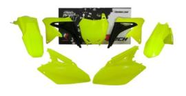 Rtech plastic kit fluor geel Suzuki RMZ 250 2010-2018