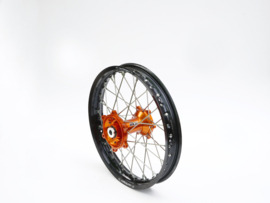 REX Wheels 18-2.15 compleet achterwiel zwarte velg met oranje naaf 20MM KTM SX-F 250/350/450 1995-2012 & EXC-F 250/350/450/500 1995-2018
