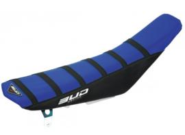 BUD Zadelovertrek blauw/zwart met zwarte lijnen voor de KTM SX 65 2016-2018 & Husqvarna TC 65 2017-2019