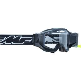 FMF Powerbomb crossbril met roll off Zwart met heldere lens 2021 collectie
