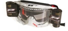 Progrip 3303 Vista crossbril wit met blanke lens + roll off set XL