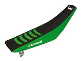 Blackbird Double Grip 3 zwart/groen zadelovertrek voor de Kawasaki