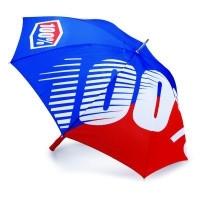 100% paraplu kleur blauw/rood