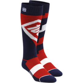100% cross sokken Torque Rood