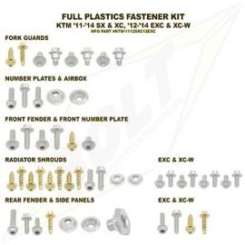 Bolt boutenset voor plastic werk voor de KTM EXC alle modellen 2012-2016 & SX alle modellen 2011-2015