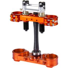 Neken complete kroonplaten set SFS incl. stuurklemmen oranje voor KTM SX/SXF 125/250/350/450 2013-2019