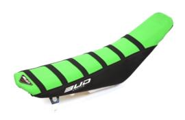 BUD Zadelovertrek groen/zwart voor de Kawasaki KX 250F 2013-2019 & KX 450F 2012-2019