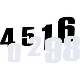 Moose Racing plaknummers 11.5 cm ( per 3 )
