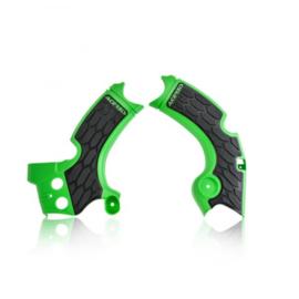 Acerbis X-Grip Framebeschermers + Grip zwart/groen Kawasaki KX 250F 2017-2018
