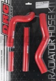 DRC radiator slangen set rood voor de Suzuki RM 125 2001-2008