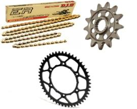 Ketting/Tandwiel kit bestaande uit Supersprox voor Mino achter tandwiel ketting DID 428 NZ3 goud KTM SX 85 2004-2018 & Husqvarna TC 85 2014-2018