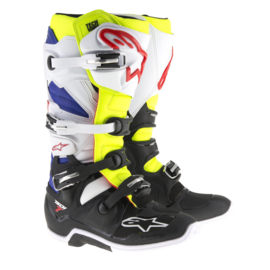 Alpinestars laarzen off-road Tech 7 wit/geel/blauw