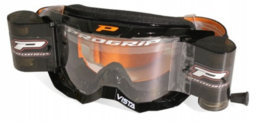 Progrip 3303 Vista crossbril zwart met blanke lens + roll off set XL