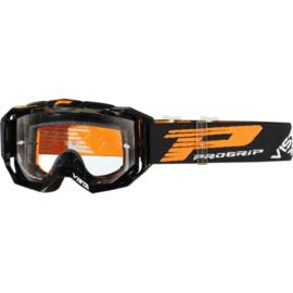 Progrip 3303 Vista crossbril zwart met blanke lens