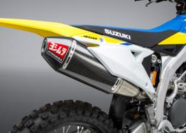Yoshimura Compleet uitlaatsysteem RS4-E titanium demper carbon/carbon eindkap Suzuki RM-Z 450 2018-2020