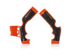 Acerbis X-Grip Framebeschermers + Grip zwart/oranje voor de KTM SX 65 2014-2018 & Husqvarna TC 65 2017-2019