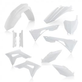 Acerbis plastic kit + voorvorkbeschermers wit voor de Honda CRF 250R 2019 & CRF 450R 2019