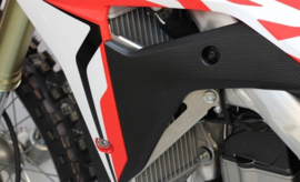 Works Connection Radiator Braces zilver voor de Honda CRF 450R 2017-2018